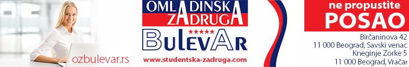 OMLADINSKA ZADRUGA BULEVAR, STUDENTSKA ZADRUGA, POSLOVI PREKO ZADRUGE, USLUGE ZADRUGE